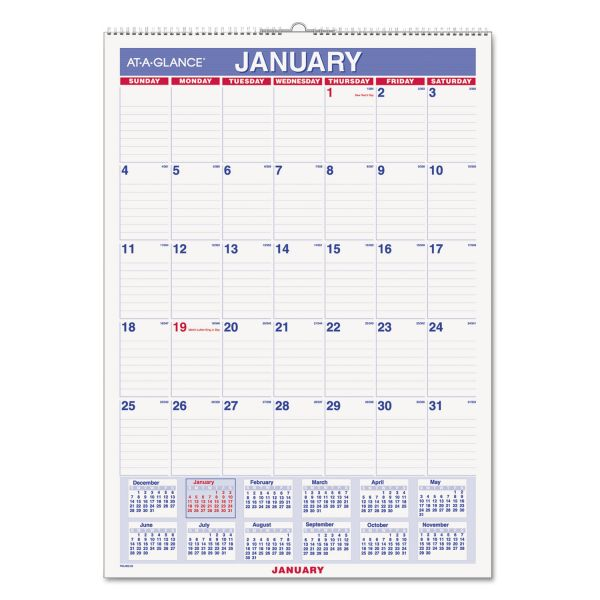 At-A-Glance Erasable Monthly Wall Calendar