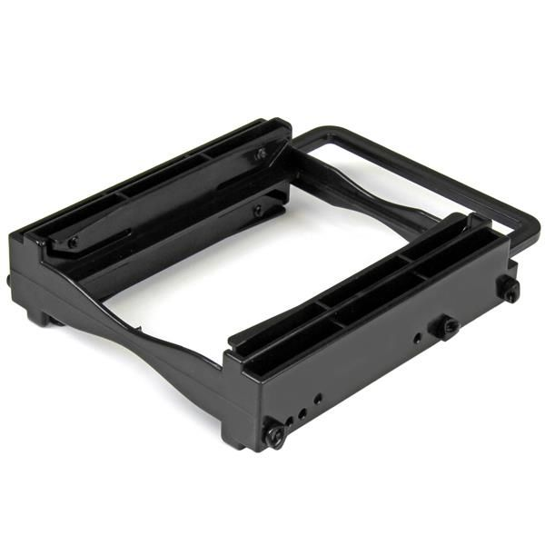 "StarTech.com Dual 2.5"" SSD/HDD Mounting Bracket for 3.5"" Drive Bay - Tool-Less Installation - 2-Drive Adapter Bracket for Desktop Computer"