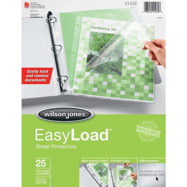 Wilson Jones Top/Side Easy Load Sheet Protectors