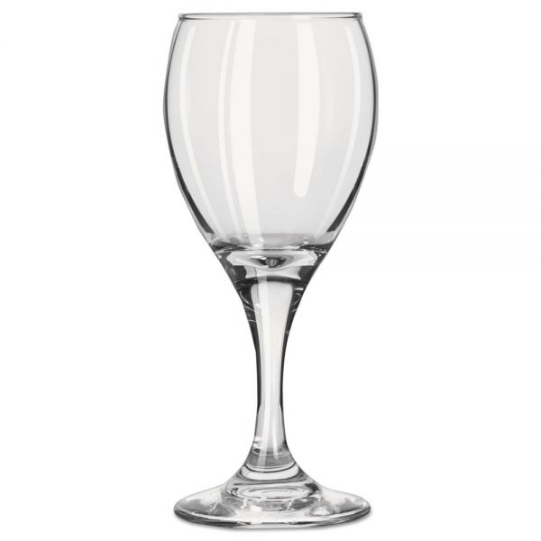 Libbey Teardrop 6.5 oz White Wine Glasses