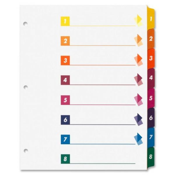 Sparco Quick Index 8-Tab Numbered Dividers With Table Of Contents Page