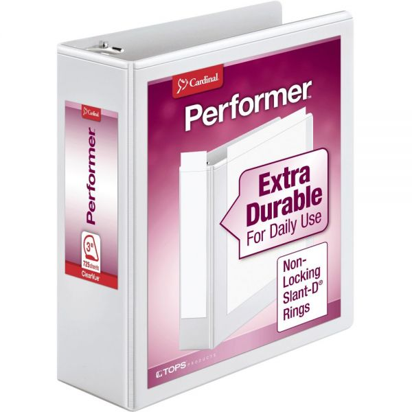 Cardinal Performer ClearVue Slant-D Ring Binders