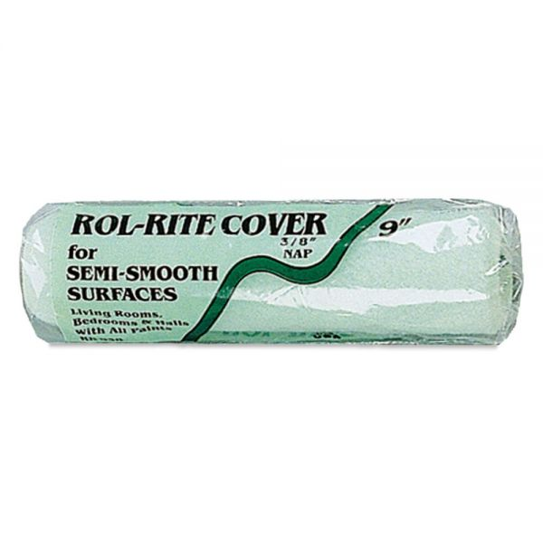 "Linzer Semi-Smooth Paint Roller Cover, 3/8"" Nap, 9"", Green"
