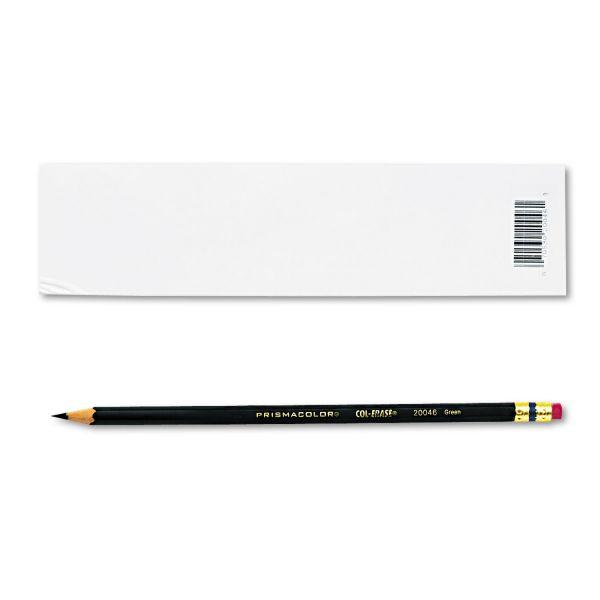 Prismacolor Col-Erase Pencil w/Eraser, Green Lead/Barrel, Dozen