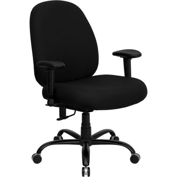 Flash Furniture Big & Tall Executive Swivel Office Chair [WL-715MG-BK-A-GG]