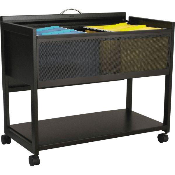 Safco Top Locking Mesh Mobile Tub File Cart