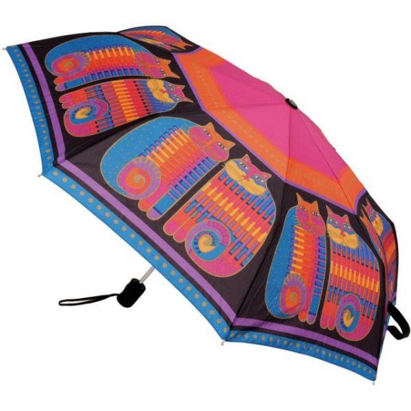 "Laurel Burch Compact Umbrella 42"" Canopy Auto Open/Close"