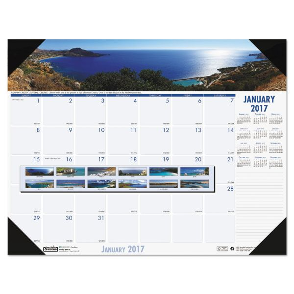 House of Doolittle Earthscapes Coastlines Monthly Desk Pad Calendar