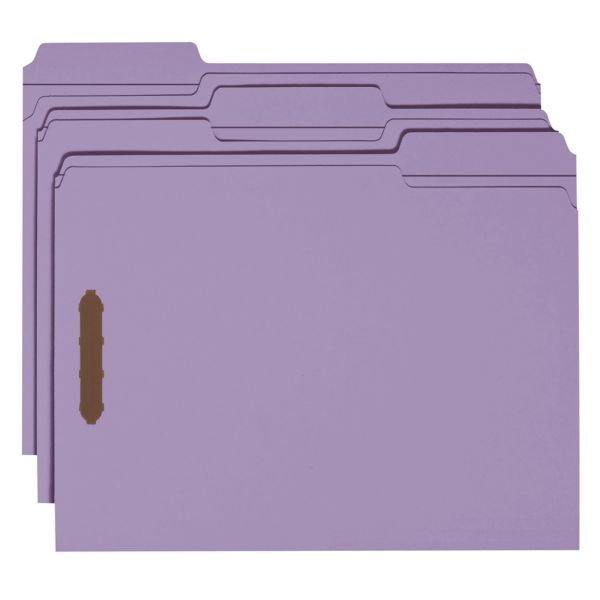 Smead Reinforced Tab File Folders With Fasteners