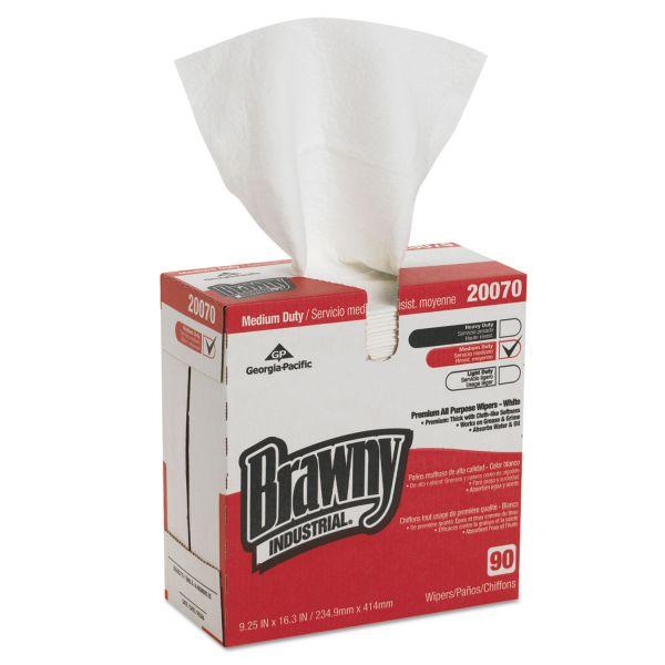Georgia Pacific Professional Medium-Duty Premium Wipes, 9 1/4 x 16 3/8, White, 90 Wipes/Box, 10 Boxes/Carton