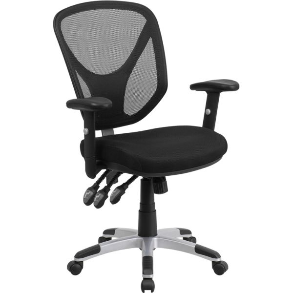 Flash Furniture Mid-Back Mesh Task Chair with Triple Paddle Control and Height Adjustable Arms