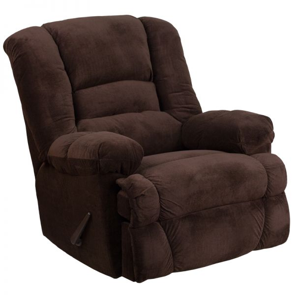 Flash Furniture Contemporary Dynasty Chocolate Microfiber Rocker Recliner