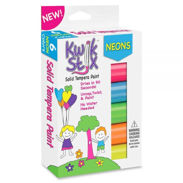 Kwik Stix Neons Solid Tempera Paint Sticks