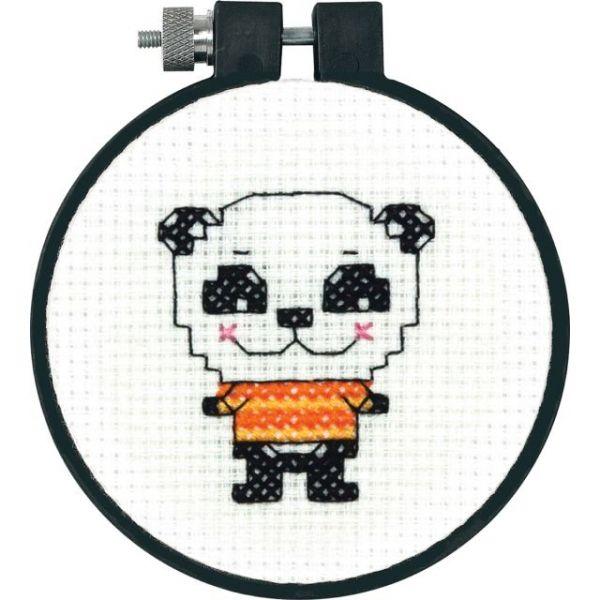 Learn-A-Craft Cute Panda Counted Cross Stitch Kit