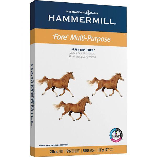 """Hammermill Fore Multi-Purpose White 11"""" x 17"""" Copy Paper"""