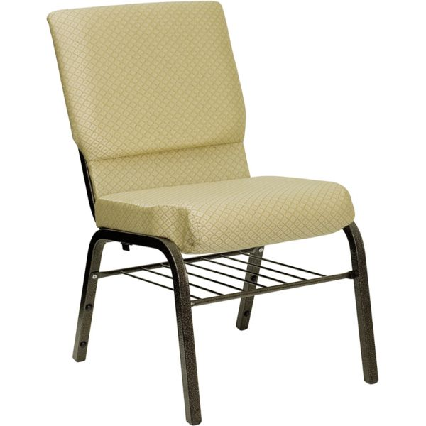 Flash Furniture Beige Fabric Big & Tall Church Chair