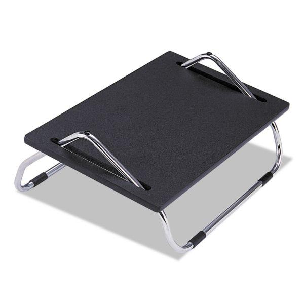 Safco Ergo-Comfort Adjustable Footrest, 18-1/2w x 11-1/2d x 8h, Black