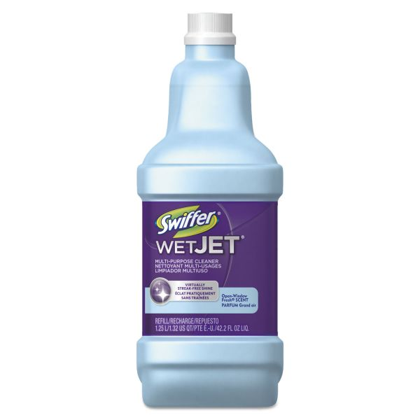 Swiffer WetJet System Cleaning-Solution Refill, 1.25 Liter, Open Window Fresh, 6/Carton