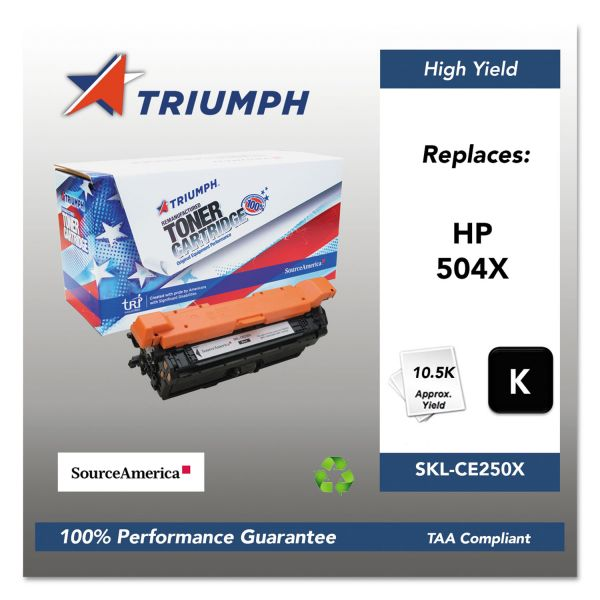 Triumph Remanufactured HP 504X (CE250X) Toner Cartridge