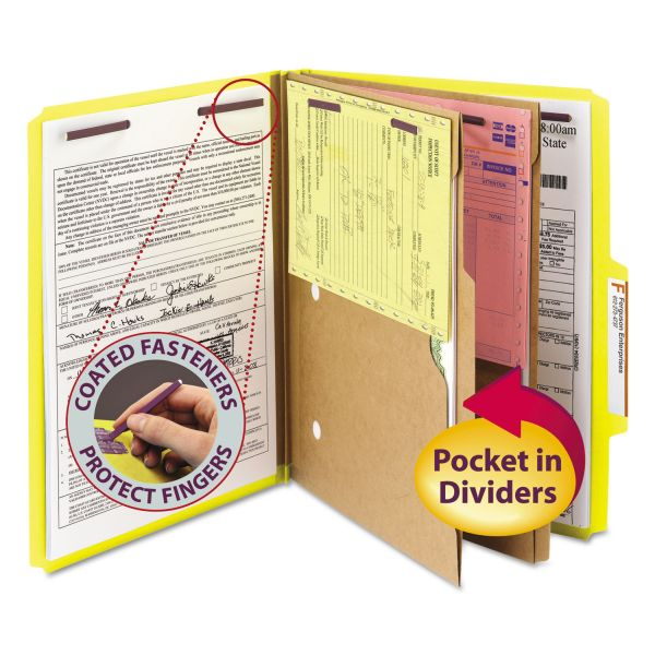 Smead SafeSHIELD Classification Folders with Pocket Dividers