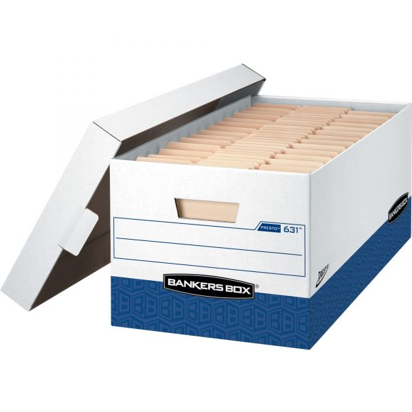 Bankers Box Presto Heavy-Duty Storage Boxes With Lift-Off Lids
