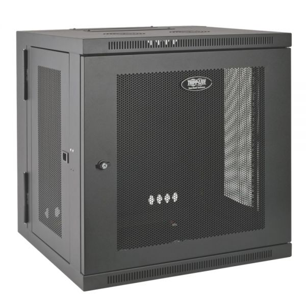 Tripp Lite 10U Wall Mount Rack Enclosure Server Cabinet Hinged w/ Door & Sides