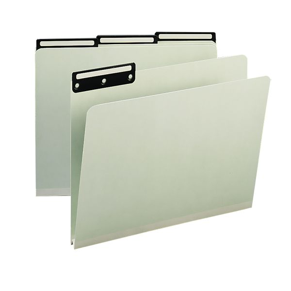 Smead Gray/Green Colored Pressboard File Folders