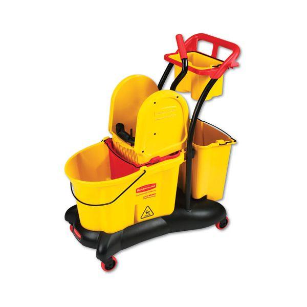 Rubbermaid Commercial WaveBrake Mopping Trolley Down-Press Bucket/Wringer Combo