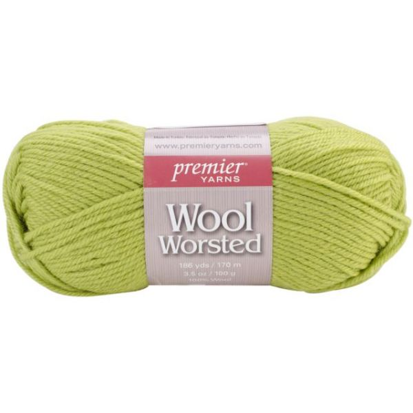 Premier Wool Worsted Yarn - Gecko Green