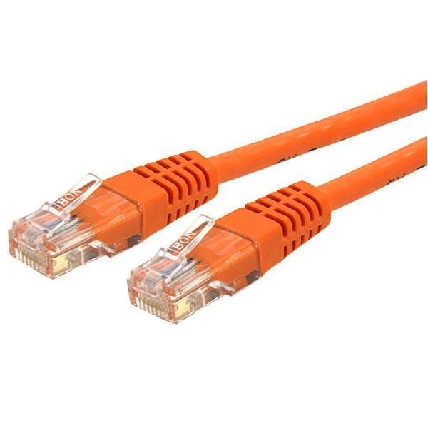 StarTech.com 25 ft Cat 6 Orange Molded RJ45 UTP Gigabit Cat6 Patch Cable - 25ft Patch Cord