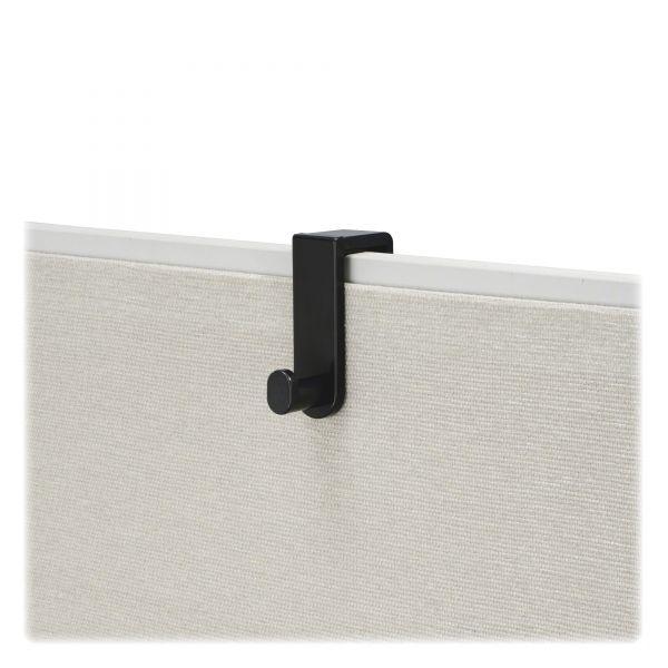 Safco Plastic Coat Hook, 1 Hook, 1 3/4 x 5 1/4 x 4, Black