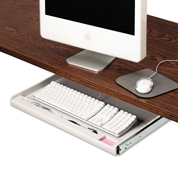 "Innovera Standard Underdesk Keyboard Drawer, 21 3/8""w x 12 7/8""d, Light Gray"
