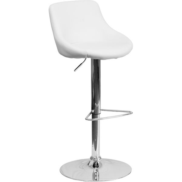 Flash Furniture Contemporary Bucket Seat Barstool
