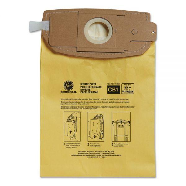 Hoover Commercial Disposable Vacuum Bags, Allergen C1, 10/PK