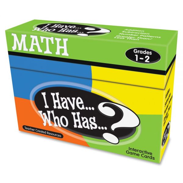 Teacher Created Resources I Have, Who Has Math Game Grade 1-2