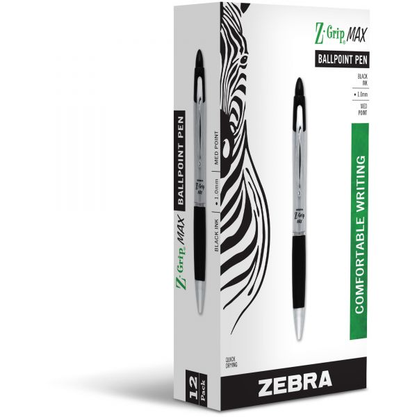 Zebra Pen Z-grip Max Retractable Ballpoint Pens