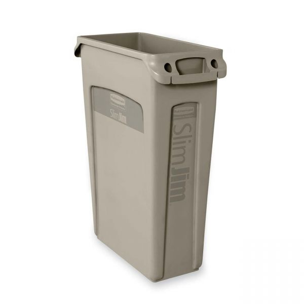 Rubbermaid Slim Jim 23 Gallon Trash Can with Venting Channels