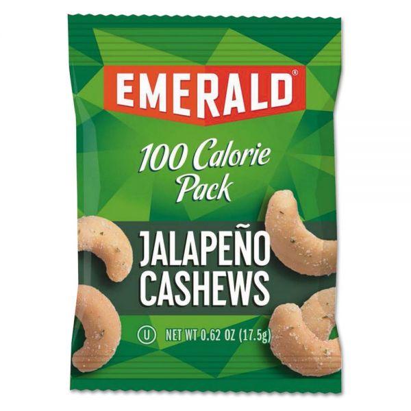 Emerald 100 Calorie Pack Nuts, Jalapeno Cashews, 0.62 oz Pack, 7/Box