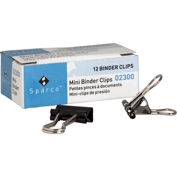 Sparco Mini Binder Clips