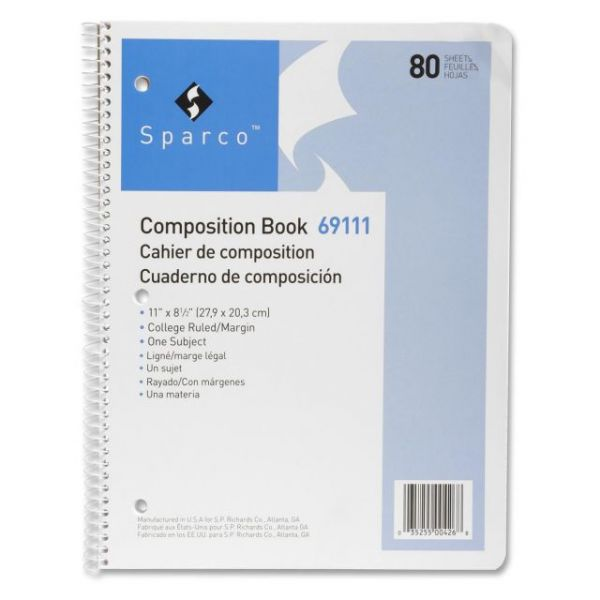 Sparco One Subject Composition Book