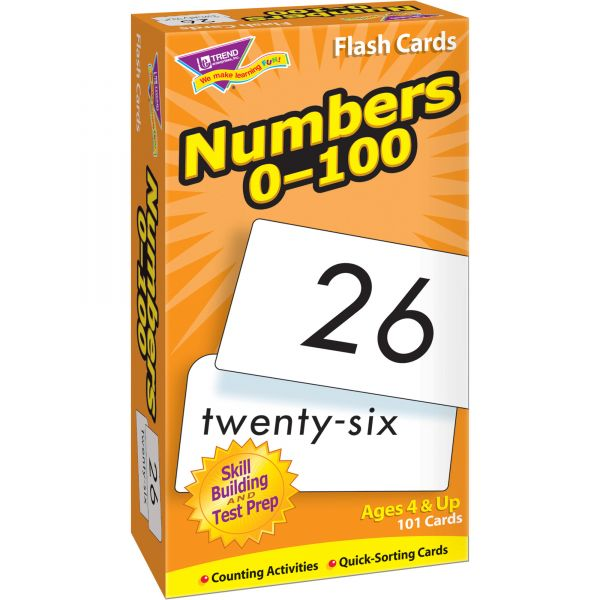 Numbers 0-100 Skill Drill Flash Cards