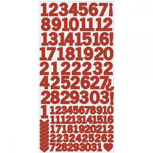 "Number Stickers 6""X12"""
