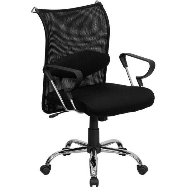 Flash Furniture Mid-Back Mesh Manager's Chair with Adjustable Lumbar Support