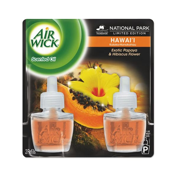 Air Wick Scented Oil Twin Refill, Hawai'i Exotic Papaya/Hibiscus Flower, 0.67oz