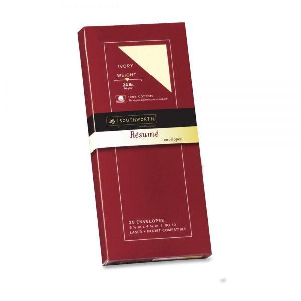 Southworth 100% Cotton No. 10 Resume Envelopes