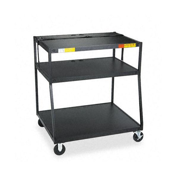 Bretford Wide Body Steel TV Cart, 40 x 32-1/2 x 44, Black