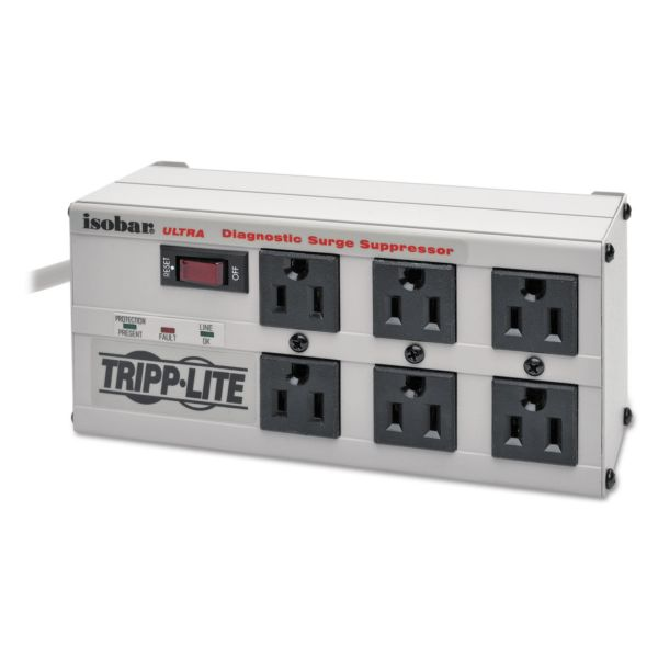 Tripp Lite ISOBAR6ULTRA Isobar Surge Suppressor Metal, 6 Outlets, 6 ft Cord, 3330 Joules