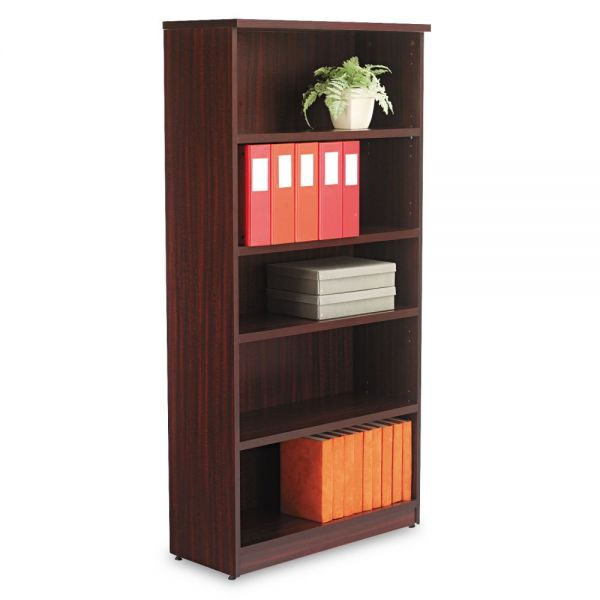 Alera Valencia Series 5-Shelf Laminate Bookcase