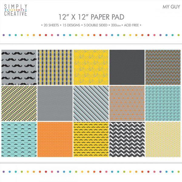 "Simply Creative Paper Pad 12""X12"" 20/Pkg"