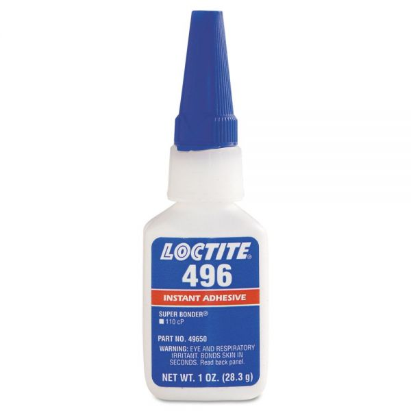 Loctite 496 Super Bonder Instant Adhesive, Cyanoacrylate